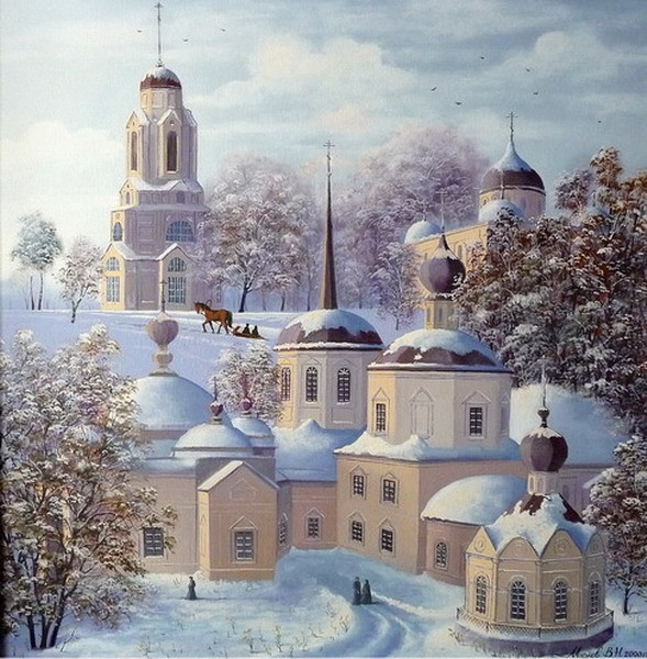 Храмы с открыток, днем